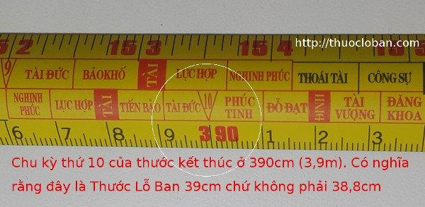 Thước Lỗ Ban 39cm đo âm phần